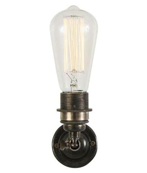 minimalist vintage wall light with bare bulb