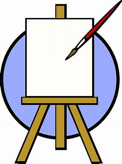 Canvas Blank Clip Vector Empty Illustrations Brush