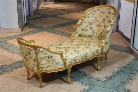 louis xv style giltwood chaise longue for sale at 1stdibs
