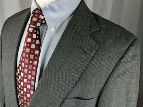 austin reed  regent grey glenn plaid  button suit mens