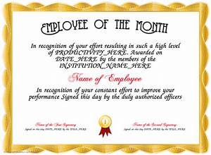 employee of the month With employee of the month certificate template with picture