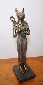 Egyptian Cat Goddess Bast Statue (Bastet)