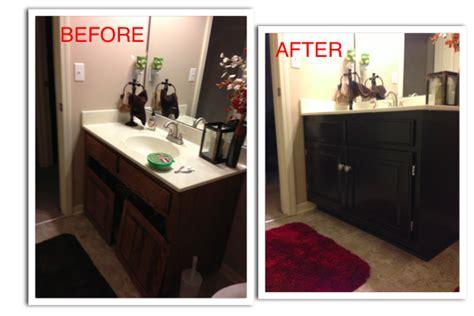 refinishing  guest bathroom vanity diy ista kelli