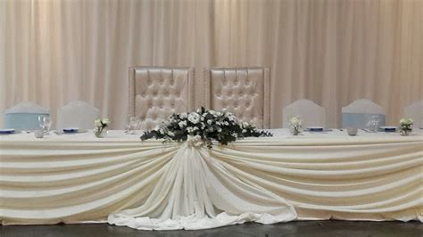 wedding main table decor wedding draping cs events