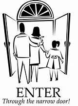 Narrow Door Gate Luke Bible Coloring Wide Children Pages Enter Preschool Through Many Gates Parable Jesus Effort Every Sermons4kids Focus sketch template
