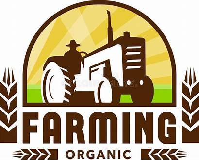 Farming Organic Wheat Tractor Crest Illustration Retro