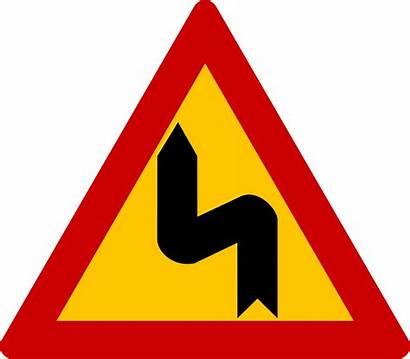 Curve Dangerous Road Right Warning Traffic Left
