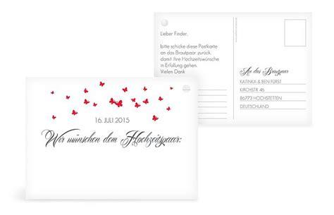 ballonkarte hochzeit butterflies