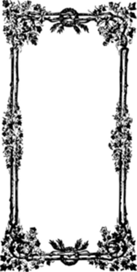 leafy vines frame clip art  clkercom vector clip art