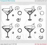 Cocktail Clip Clipart Line Glass Cocktails Drawing Clipartsheep Google Embroidery sketch template