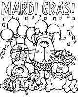 Mardi Gras Coloring Pages Cartoon Printable Parade Characters Mask Posadas Las Sheets Colornimbus Fun Cartoons Animals Tuesday Jester Fat Getcolorings sketch template