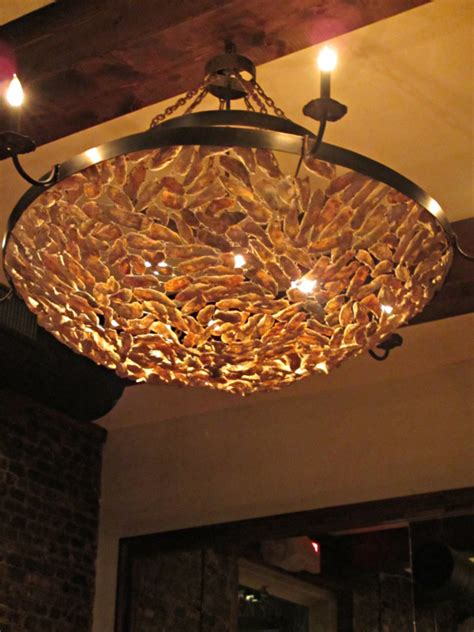 shell light fixture oyster shell chandelier ideas homesfeed
