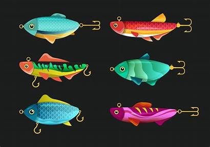 Fishing Vector Tackle Lures Fly Clipart Graphics