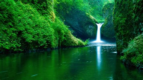 Waterfall, Water, Nature, Landscape, Green, River, Forest