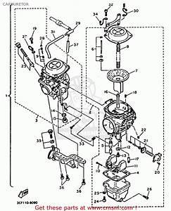 Yamaha Xv1100c Virago 1992  N  California Carburetor