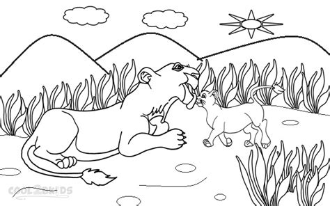 printable simba coloring pages  kids coolbkids