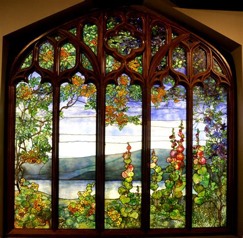 tiffany stained glass l conservation of a louis comfort tiffany stained glass
