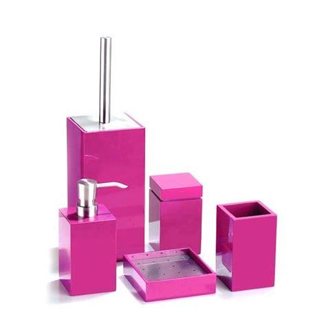accessoires salle de bain fushia recherche
