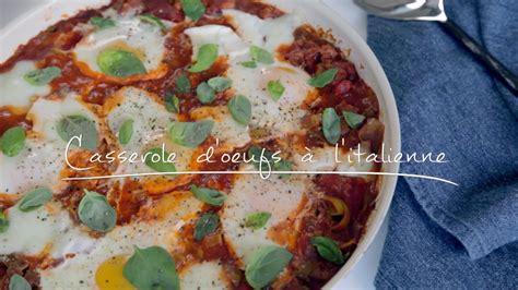 cuisine oeufs casserole d 39 oeufs à l 39 italienne cuisine futée parents