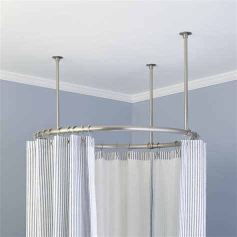oval shower curtain rod 32 quot shower curtain rod