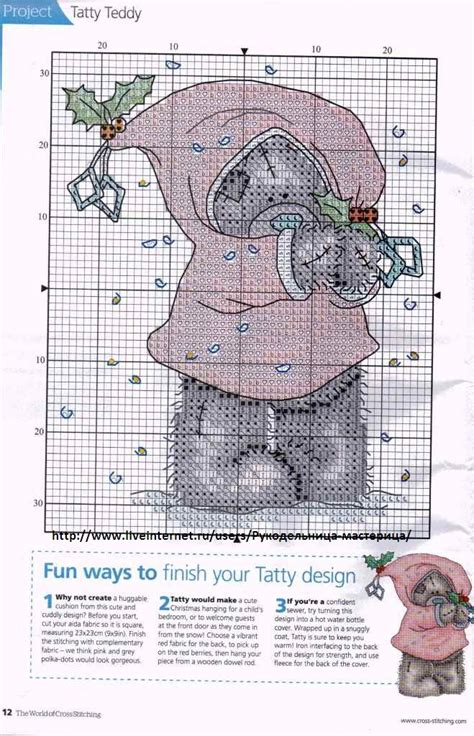 tatty teddy cross stitch  cross stitch patterns