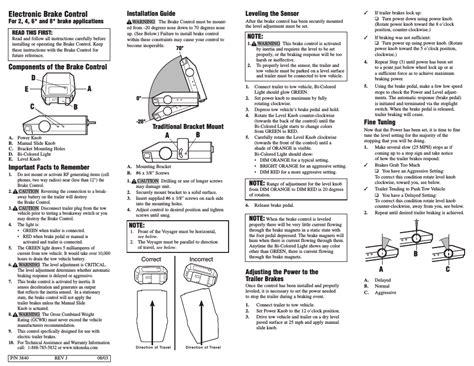 tekonsha voyager user manual  pages