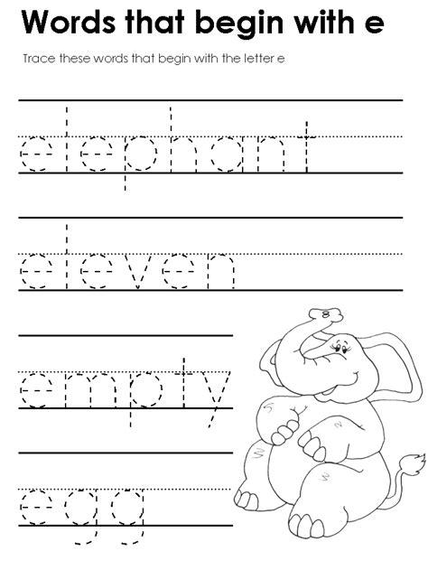 worksheets letter e worksheets for preschool opossumsoft