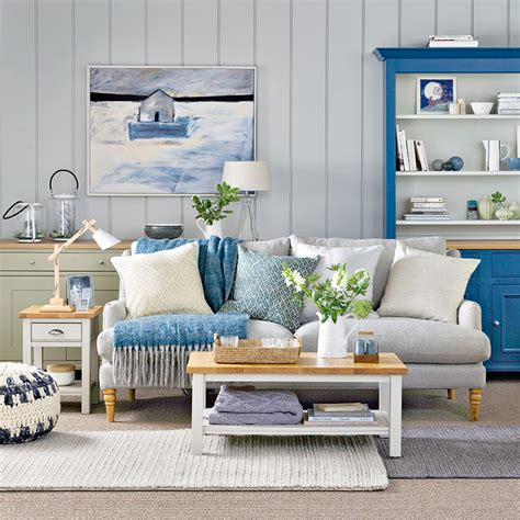 coastal living rooms  recreate carefree beach days