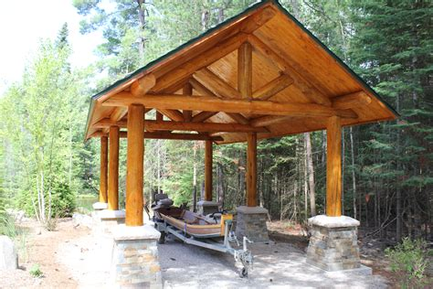 log carport rocky mountain homes
