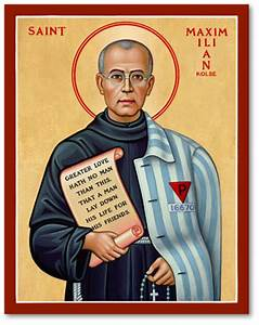 Men Saint Icons: St Maximilian Kolbe Icon Monastery Icons