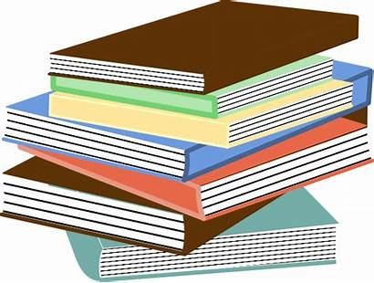 Books Stack Clip Clipart Clker Svg Textbooks