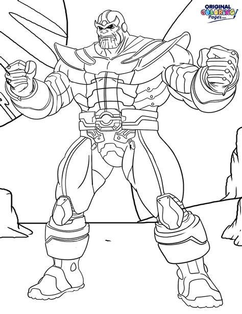 thanos coloring page coloring pages original coloring