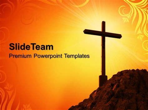 sermon ideas powerpoint templates yellow cross symbol