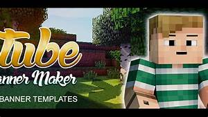 Youtube Banner Maker - Minecraft Channel Template 1
