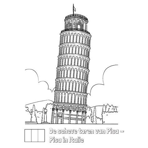 toren van pisa tekening leuk voor kids de scheve toren pisa in italie