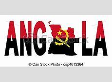 Dessin de Angola, texte, carte, drapeau, Illustration