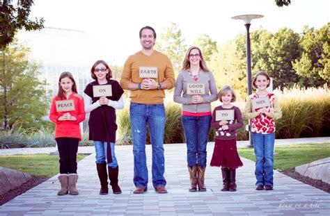 peace on earth sign christmas family photo idea such a