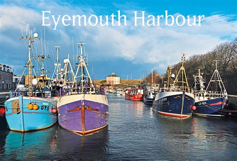 eyemouth harbour island blue
