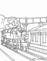Train Coloring Steam Pages Station Locomotive Tunnel Subway Drawing Engine Printable Trains Getting Arrives Rail Sheets Template Drawings Getdrawings Sketch sketch template