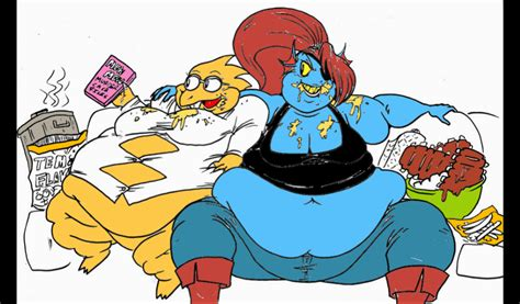 Fat Alphys And Undyne By Godzilla511 On Deviantart