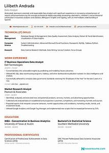 Data Analyst Resume