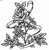 Coloring Roses Rose Pages Adults Printable Easy Colouring Books Skull Drawing Popular Cute Adult Cliparts Azcoloring Cartoon Flower Craft Drawings sketch template