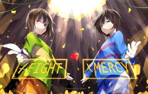 Undertale Anime Wallpaper - undertale frisk chara anime style anime chara