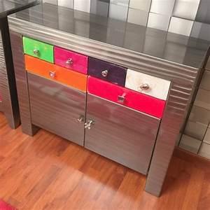Console Avec Tiroir Meuble Entree : console metal meuble console table console design meuble metal ~ Preciouscoupons.com Idées de Décoration