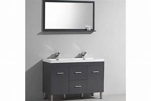 Meuble Salle De Bain A Poser : ens klassyk meuble poser double vasque avec miroir inclu ~ Teatrodelosmanantiales.com Idées de Décoration