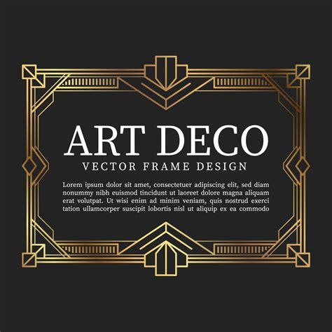 vintage frame art deco style vector illustration