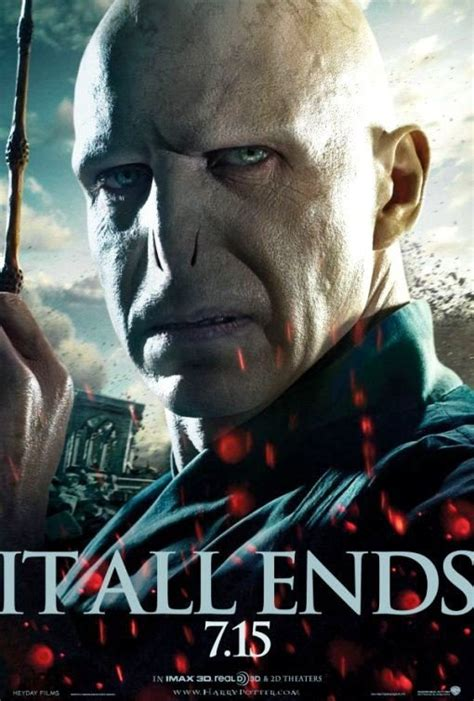 evil voldemort  fresh deathly hallows part  poster