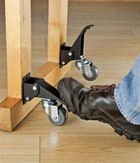 rockler offers caster kit   touch lift mechanism