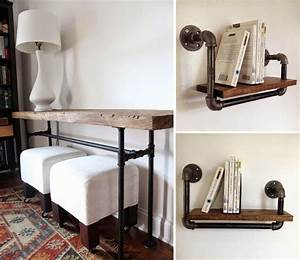 Möbel Industrie Look : ber ideen zu m bel aus rohren auf pinterest r hrenregale r hrentisch und ~ Sanjose-hotels-ca.com Haus und Dekorationen