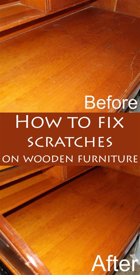 fix scratches  wooden furniture
